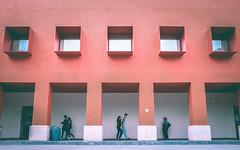 Orange Corners... (Damien Manspeaker) Tags: artitecture geometry mexico city corners orange color colors people street streets fuji x100 light shadows sacred