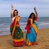 Des Indiennes à Cabourg (PatGentil) Tags: indiennes cabourg mer sable