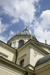 The Wilanow Palace Church and clouds (SpirosK photography) Tags: poland warsaw warszawa   clouds church  holyplace worship