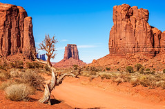 Through Monument Valley (danielacon15) Tags: americansouthwest monumentvalley navajotribalpark unitedstates desert landscape nature red 2016 coloradoplateau naturalmonuments travel utah erosion mesas outdoors structures