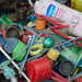 Pens, Bottles, Tops, to be Recycled
