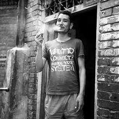 (7upvision) Tags: street nepal blackandwhite bw 120 tlr rolleiflex zeiss fuji 66 d76 carl kathmandu 100 planar acros 35f