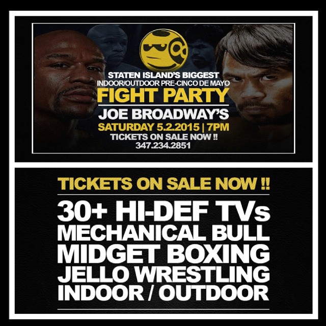 Check out http://cincodemayosi.com for more info #JoeBroadways #MAYWEATHERPacquiao #Pacquiao #Fightnight #MAYWEATHER #Pacman #PacquiaoMAYWEATHER