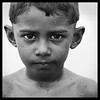 Nilaveli beach, Sri Lanka (2013) ([cation]) Tags: portrait blackandwhite bw blancoynegro beach square 50mm blackwhite nikon child retrato playa 66 sri lanka carré d300 cuadrado 500x500