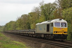 The first of the silver pair (SlightlyReliable70 2010-2015) Tags: uk station train silver dock power ss traction rail terminal brush db class british nordic tug import quarry 60 sixty dbs drax doncaster dolomite livery schenker tinsley immingham conisbrough cadeby 60099 60066 6d03