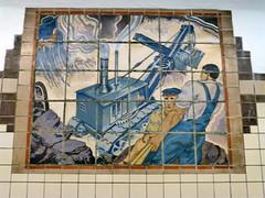 Newark, NJ City Subway (army.arch) Tags: station underground subway tile newjersey nj transportation transit wpa newark lightrail