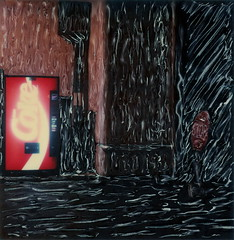 Hollywood Coke Machine 1 (tobysx70) Tags: california ca toby film sign night polaroid sx70 photography la los nocturnal time angeles machine coke manipulation center 66 illuminated route stop hollywood instant cocacola sonar hancock studios zero vending rt rte tz emulsion