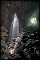 A Broader View. (BamaWester) Tags: stephensgap cave wideangle light rays caving rappelling alabama bamawester napg hdr