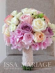 buhcet mireasa culori pale (IssaEvents) Tags: buchet mireasa cu hortezia ros trandafiri roz pal si dantela issamariage issaevents bucuresti valcea slatina