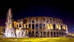The Colosseum (harvey.doane) Tags: blue sky italy rome architecture night ruin historic colosseum riuns