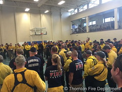 July 10, 2016 - Thornton Fire Department members attend a briefing before fighting the Cold Springs Fire. (Thornton Fire Department)