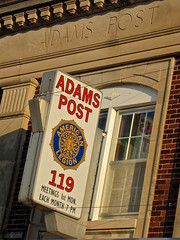 Adams Post, Humboldt, IA (Robby Virus) Tags: sign humboldt post adams iowa american signage fraternal organization legion veterans 119