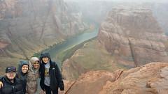 Horseshoe Bend (grazielera) Tags: horseshoebendandrain horseshoebend page az arizona pageaz horseshoebendlowlight