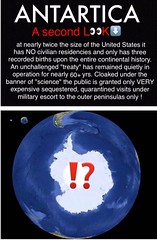 Antarctica - A Second Look (ipressthis) Tags: sun moon history truth unitedstates flat military continental antarctica science dome bible curve yinyang memes escort civilian curvature births treaty cloaked flatearth peninsulas quarantined sequestered firmament residencies unchallenged nocurve flatearthonline