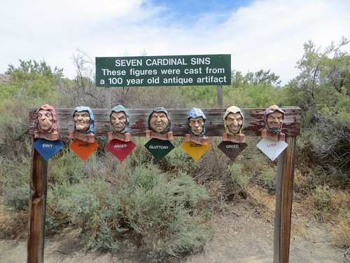 Seven Cardinal Sins sculpture