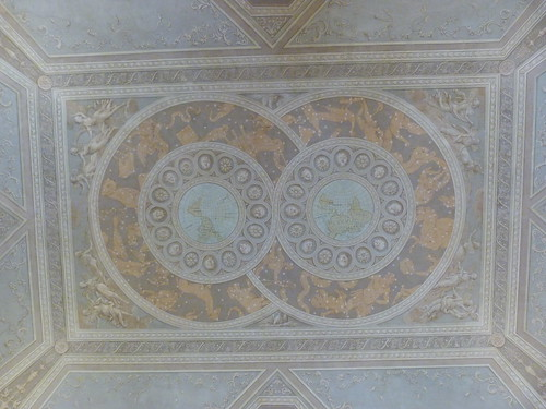 Reggia Caserta - Bourbon royal palace, state rooms, zodiac pastel ceiling detail