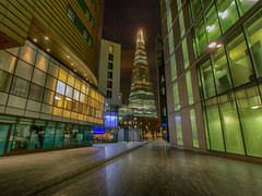 standing tall (Wizard CG) Tags: more place london shard bridge ngc world trekker micro four thirds 43 m43 olympus long exposure architecture hall city by night cityscape england glass hdr high dynamic range light lights lines modern building old path uk united kingdom