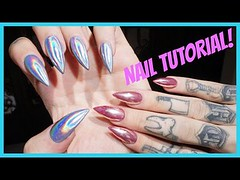 CHROME & HOLOGRAPHIC NAILS: Step by Step Tutorial | Jeffree Star (Download Youtube Videos Online) Tags: chrome holographic nails step by tutorial | jeffree star