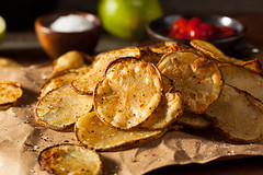 Homemade Spicy LIme and Pepper Baked Potato Chips (brent.hofacker) Tags: appetizer baked bakedpotatochips bakedpotatoes chip chips cooked crisps crispy crunchy delicious dish eat fast fat food french fried golden gourmet healthy herb junk lunch meal natural organic pile potato potatochips prepared roasted roastedpotatochips roastedpotatoes rosemary rustic salt salted side slice sliced snack spiced tasty unhealthy vegetable vegetarian wedges yellow