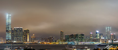 The Frontier Pushes Back (Tim van Zundert) Tags: hong kong island panorama cityscape city skyline buildings architecture kowloon china water sea rivers sky cloud long exposure night evening light pollution sony a7r voigtlander 21mm ultron