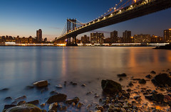 Manhattan from Brooklyn's DUMBO (Rich Williams ) Tags: newyorkcity longexposure night cityscape manhattanbridge canonef1635mmf28lusm leefilters