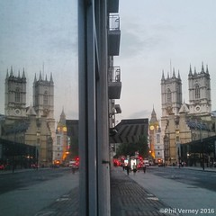 Two for the price of one. (philverney) Tags: london westminster uk england sw1 victoria westminsterabbey bigben elizabethtower victoriastreet housesofparliament windows reflections reflecting reflection architecture igerslondon thisislondon prettylittlelondon mylondon lovelondon prettycitylondon visitlondon maybeldner inspiration explore tourism artistic