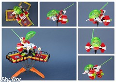 sky fire (peter-ray) Tags: space sky ship jeet caccia scooter orbital lego minifigure mtron brick moc peter ray