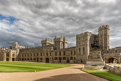 Windsor Castle (James Waghorn) Tags: sigma1020f456 castle summer windsorcastle dfine2 d7100 topazclarity shadows soldier statue clouds windsor historic royal england landmark tourist medieval nikon guardsman