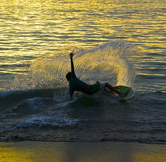 Sunset Surfer (f/ames) Tags: ocean sunset beach costarica pacific surfer playadelcoco