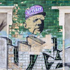 Graffiti (Hans van der Boom) Tags: europe portugal algarve vacation holiday albufeira abandoned house building green graffiti dilapidated ruined pt