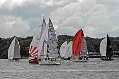 Sails in the bay (winchman2010) Tags: sailing segeln regatta yachts boats kiel baltic ostsee welcomerace