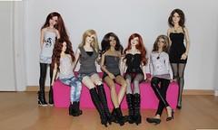 the ladies (extraordinary-girl) Tags: elfdoll euna dollmore zaoll luv llt edria iplehouse eva jessica carina grace