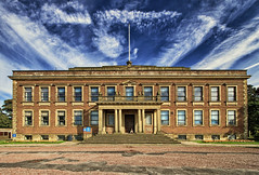 Morecambe Town Hall (nigelhunter) Tags: infocus lowcontrast highquality morecambe town hall landscape building histric sky clouds