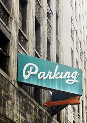 USA RT 14 (s-h-design) Tags: car park parking lot old wall denver colorado parkhaus sign rusty derelict verfallen retro windows