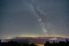 night over Bavaria (Frank van de Velde) Tags: star stars milkyway nightsky germany bavaria deutschland bayern alp alps zugspitze wetterstein mountain mountains voralpen night nightshot longexposure nightscape