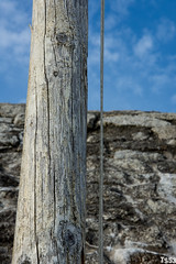Flagpole and granite wall (todde.sin ...expect the unexpected...) Tags: landscape landschaft reisen travel cornwall uk