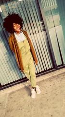 Instagram: @phoenixlafemme  #streetwear #streetfashion  #chucks #overalls #spring2015 #fros #frolife #afro #blackwomen #afrolatina #simplicity (phoenixlafemme) Tags: afro simplicity overalls chucks streetwear streetfashion blackwomen fros afrolatina frolife spring2015