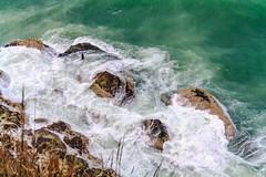 Foamy Waves (PietroPosacki) Tags: sea italy storm green water rocks italia waves foam marche ancona