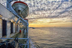 Zeebrugge Daybreak (Jason Connolly) Tags: sea ferry sunrise dawn nikon belgium sigma northsea daybreak zeebrugge lifeboats poferries sigma1750 sigma1750mmf28 nikond7100