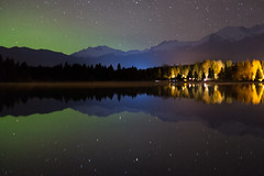 Aurora at Alta Lake (craigmdennis) Tags: sky lake mountains night stars whistler aurora rainbowpark altalake