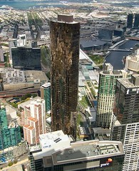 Pearl Tower, Melbourne (Oriolus84) Tags: city tower glass architecture bronze facade skyscraper buildings view apartment australia melbourne victoria aerial southbank highrise pearltower primatower primapearl