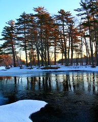 Blue Skies And Tall Trees (k.jackson) Tags: trees sky nature water sunrise reflections river landscape landscapes scenery skies maine earlymorning scenic reflect rays blueskies bluewaters sunsrays talltrees sunrising earlymorningsun