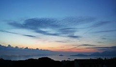 @Montemarcello (nene/aww) Tags: sunset sky italy clouds island la tramonto mare view liguria panoramic spezia montemarcello