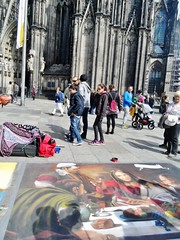 Art by the Dom (Elysia in Wonderland) Tags: holiday art church germany religious lucy colours cathedral dom cologne pastels elysia