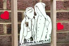 Couple Papercut (all things paper) Tags: silhouette papercut papercutting twentyfingers personalizedpapercut