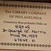 BookplateLabel: Norris, Dr  George W ; The Library Company of Philadelphia