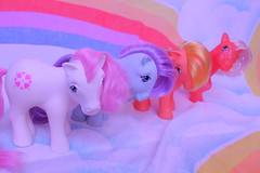 the gang (Vuffy VonHoof) Tags: girls boy horse cute boys girl vintage toy toys photography doll neon dolls little sassy pastel dream retro pony 80s dreamy 1980 1980s 90s