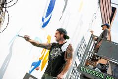 Red Bull (Always Hand Paint) Tags: advertising mural outdoor beverage progress ooh handpaint redbull colossal b200 streetlevel colossalmedia muraladvertising skyhighmurals alwayshandpaint kristamlindahl redbullprogress