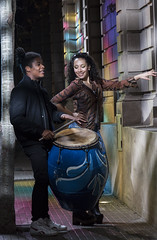 Candombe (wesp2011) Tags: street music woman man lights luces dance mujer popular baile hombre candombe callejera