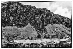 Scree slopes in the back garden (docmartin51) Tags: bw mountains monochrome scree northwales